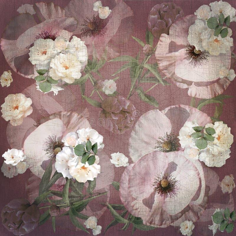 Bloemenontwerp, papaverboeket vector illustratie