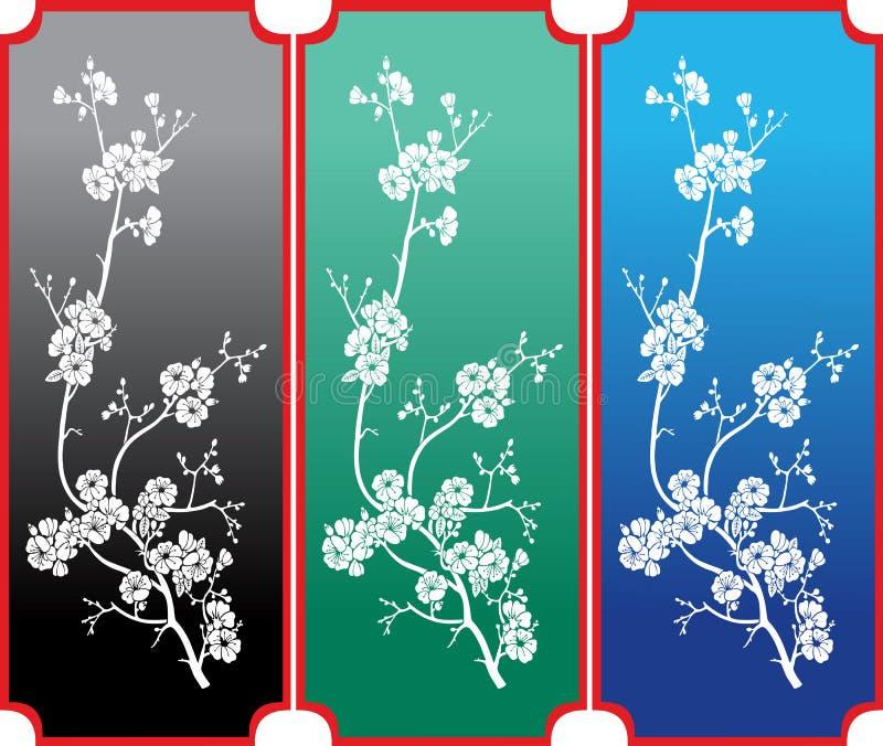 Bloemenornament stock illustratie