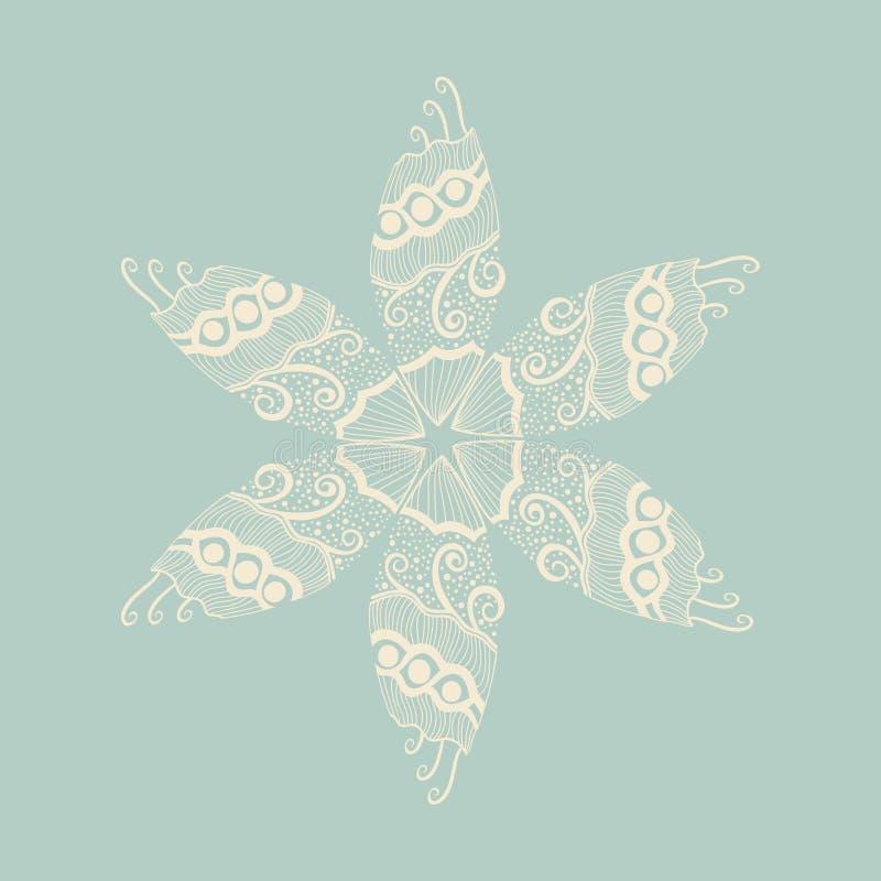Bloemenornament, decoratie vector illustratie