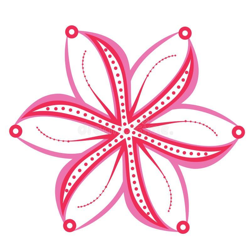 Bloemenornament, decoratie royalty-vrije illustratie