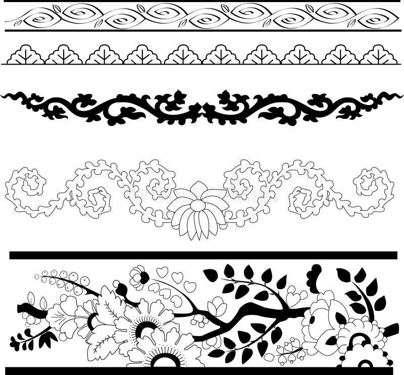 Bloemenpatronen vector illustratie