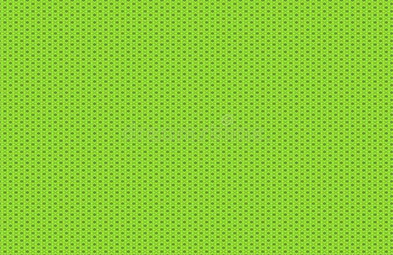 Bloemenpatroon Groene Achtergrond vector illustratie