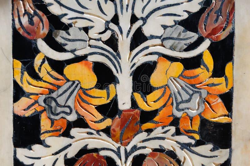 Bloemenpatroon Marmeren Intarsia - Palermo stock fotografie