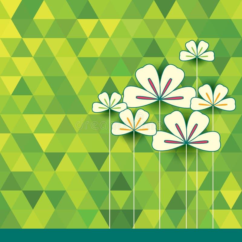 Bloemenpatroon met kleurrijke bloemen royalty-vrije illustratie
