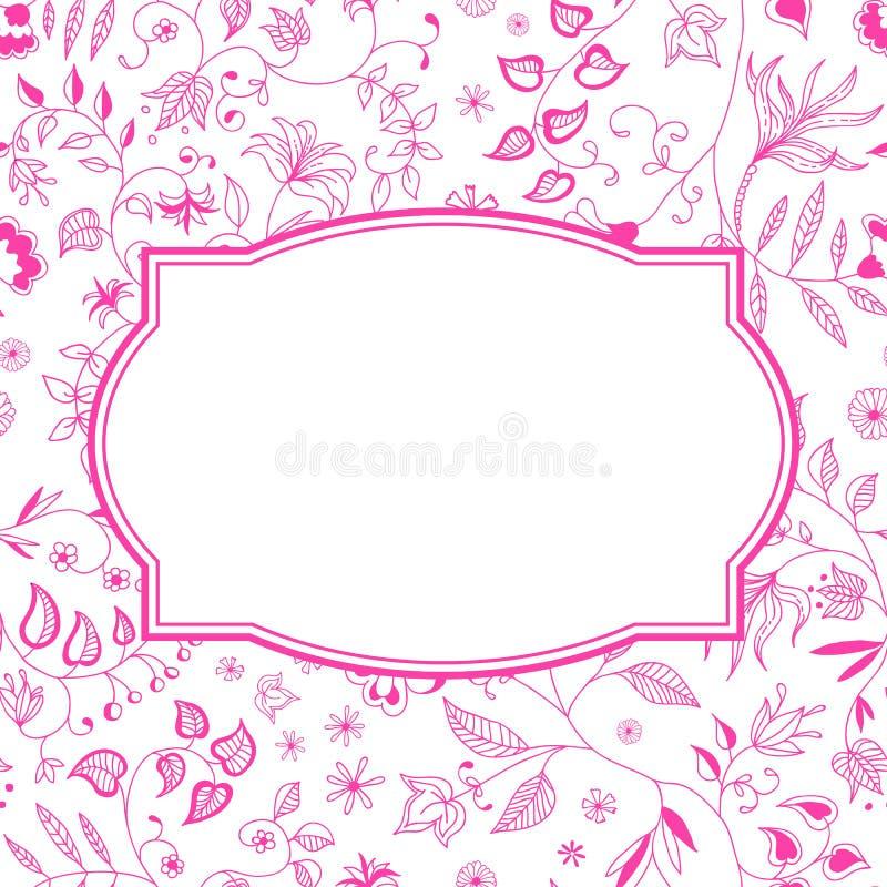 Bloemenpatroon Roze Achtergrond royalty-vrije illustratie