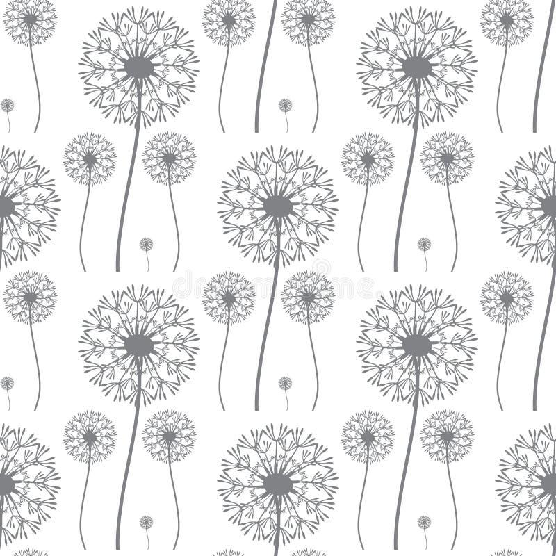 Bloemenpatroon van paardebloemen royalty-vrije illustratie