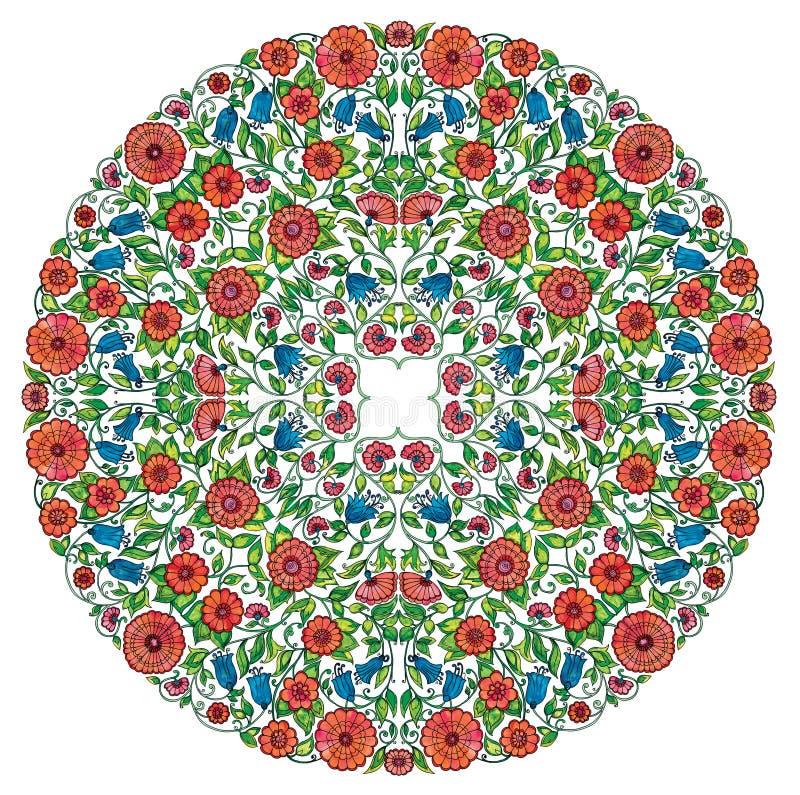 Bloemenrozet royalty-vrije stock afbeelding