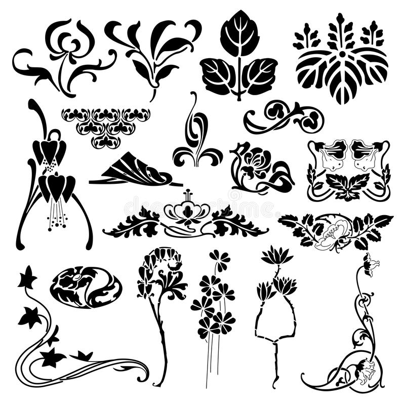 Bloemensilhouet royalty-vrije illustratie