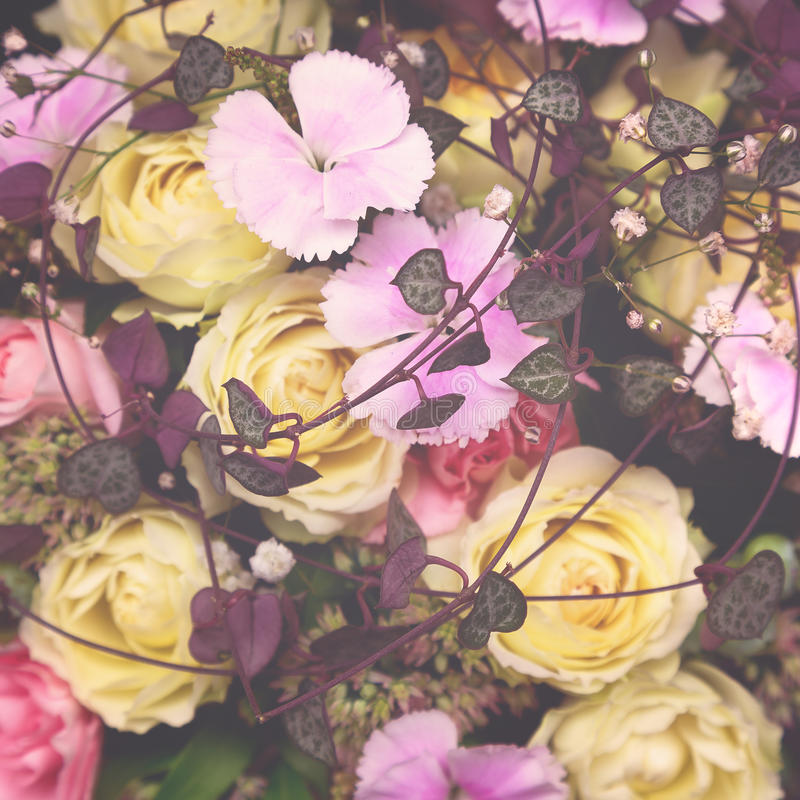 Bloemensteenachtergrond royalty-vrije stock foto