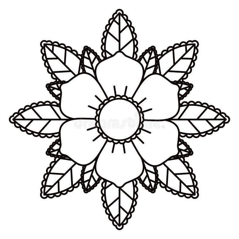 Bloementatoegering geïsoleerd pictogramontwerp royalty-vrije illustratie