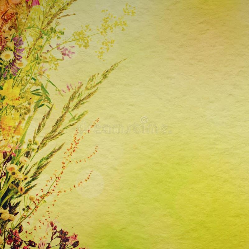 Bloemenvakantieachtergrond stock afbeelding