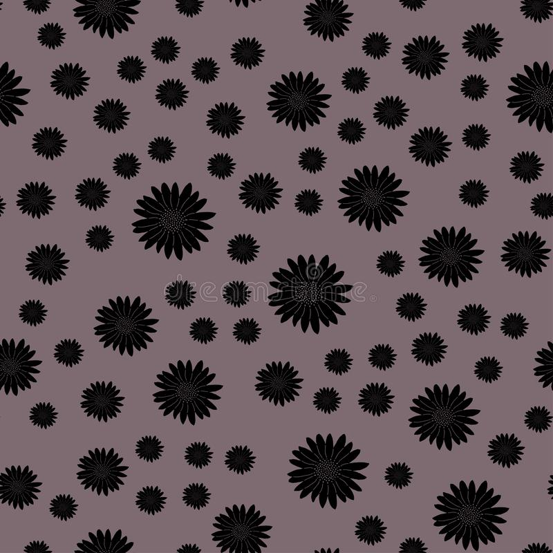 Bloemillustratie op mauve achtergrond vector illustratie