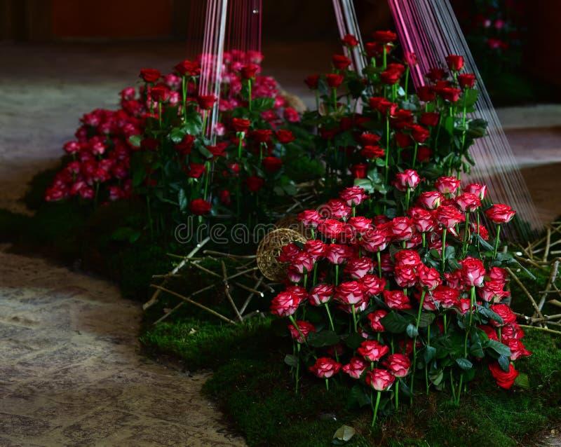 Bloemist, bloemen of bloemwinkel royalty-vrije stock afbeelding