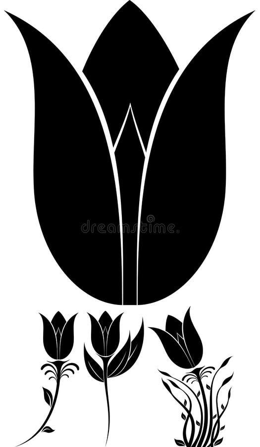 Bloemsilhouet royalty-vrije stock afbeelding