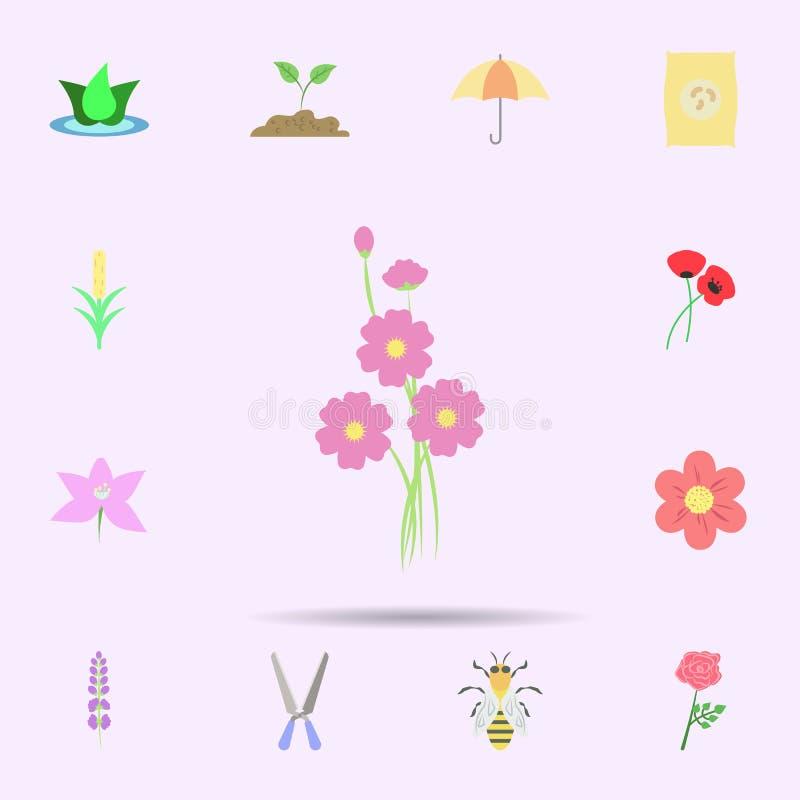 bloesem gekleurd pictogram Universele reeks van aard voor websiteontwerp en ontwikkeling, app ontwikkeling royalty-vrije illustratie