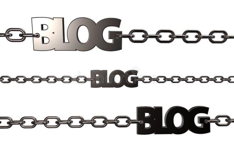 Blogów łańcuchy ilustracja wektor