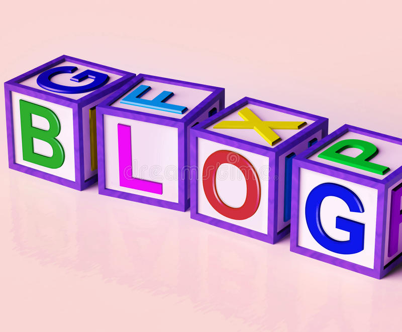 Blogów bloków przedstawienia marketingu Internetowa opinia ilustracja wektor