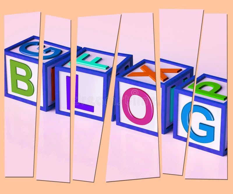 Blogów listów przedstawienia marketingu Internetowa opinia Lub wiadomość royalty ilustracja