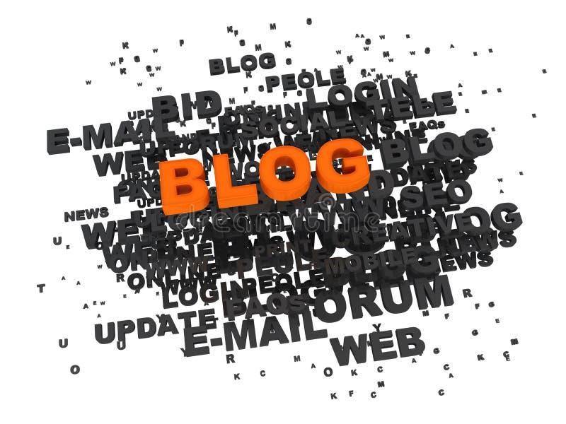 blog έννοια απεικόνιση αποθεμάτων