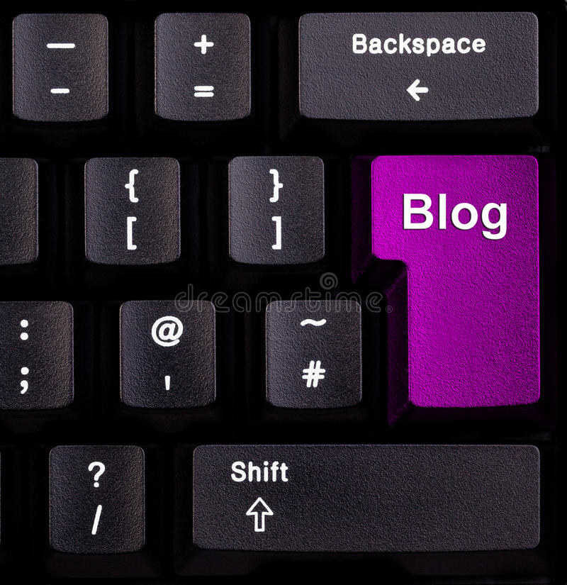 blog πληκτρολόγιο στοκ φωτογραφία με δικαίωμα ελεύθερης χρήσης