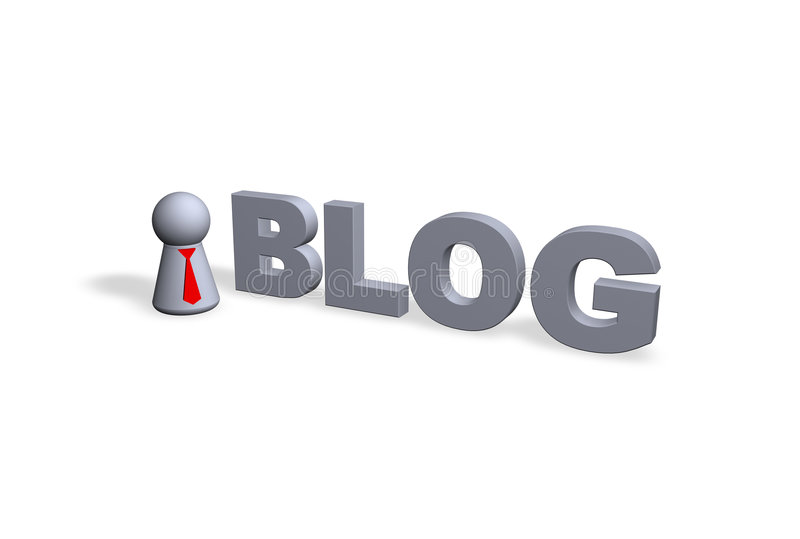 Blog royalty-vrije illustratie
