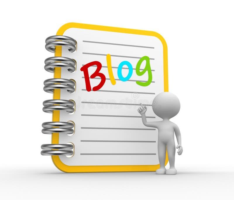 Blog stock de ilustración