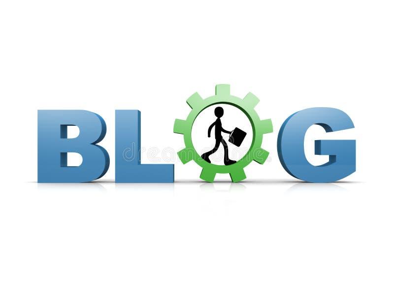 Blog illustration libre de droits