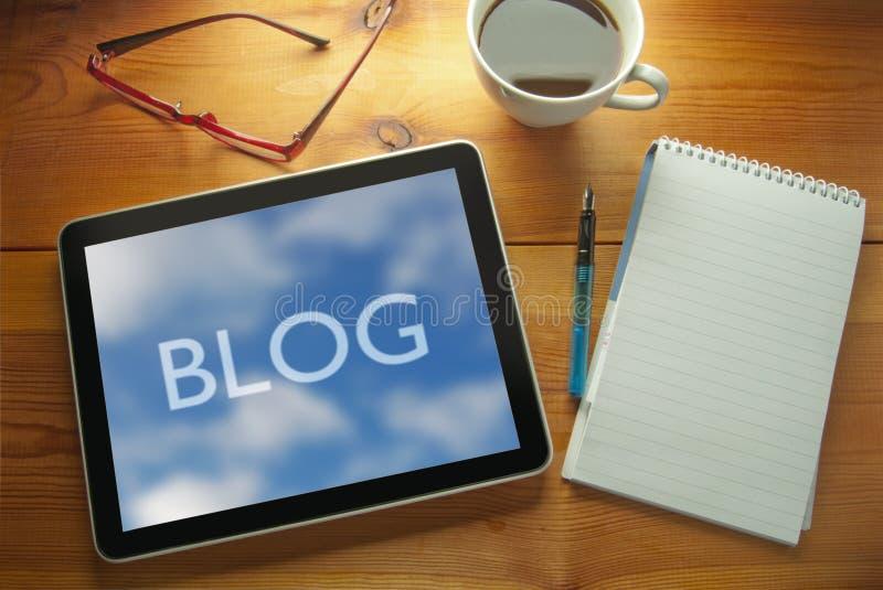 Blog zdjęcie stock