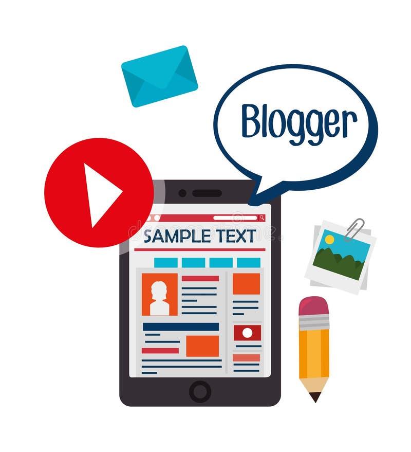 Download Blog And Blogger Social Media Design Stock Vector - Illustration of mobile, media: 59855077
