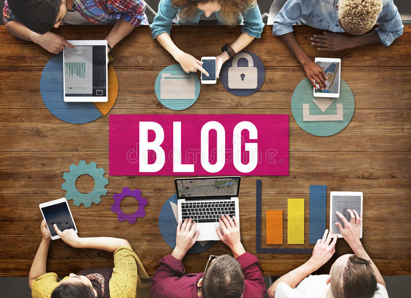 Blog Blogging Media Messaging Social Network Media Concept stock image