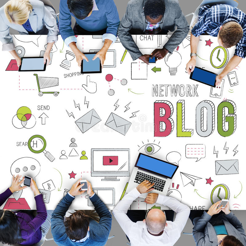 Download Blog Blogging Networking Digital Connection Concept Stock Image - Image of businesswomen, internet: 67826581