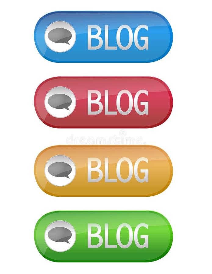 Blog Button Stock Image
