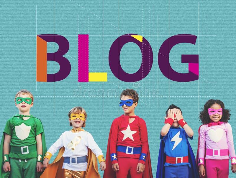 Blog che collega concetto contento di informazioni del homepage fotografia stock libera da diritti