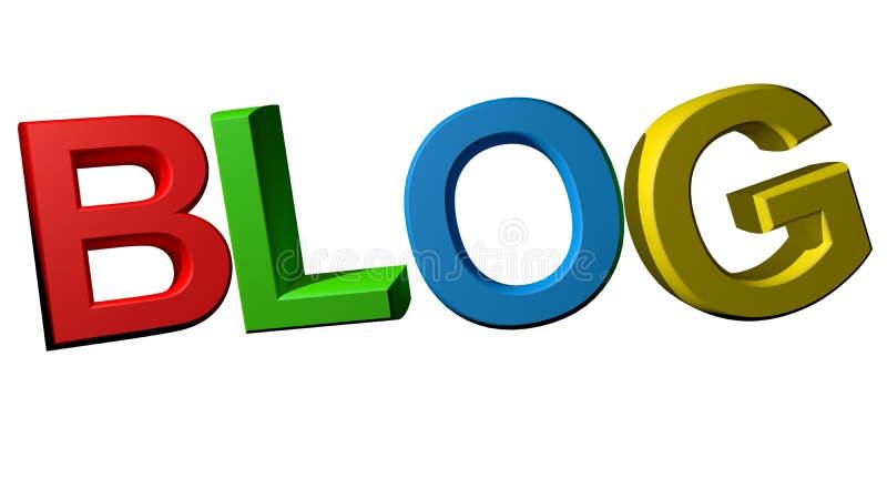 Blog coloré illustration stock