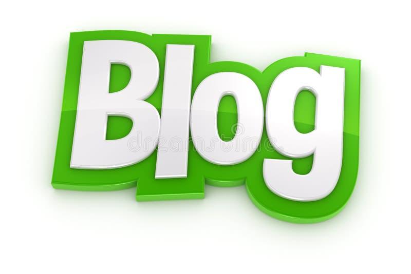 Download Blog 3D Word On White Background Stock Illustration - Image: 42573276