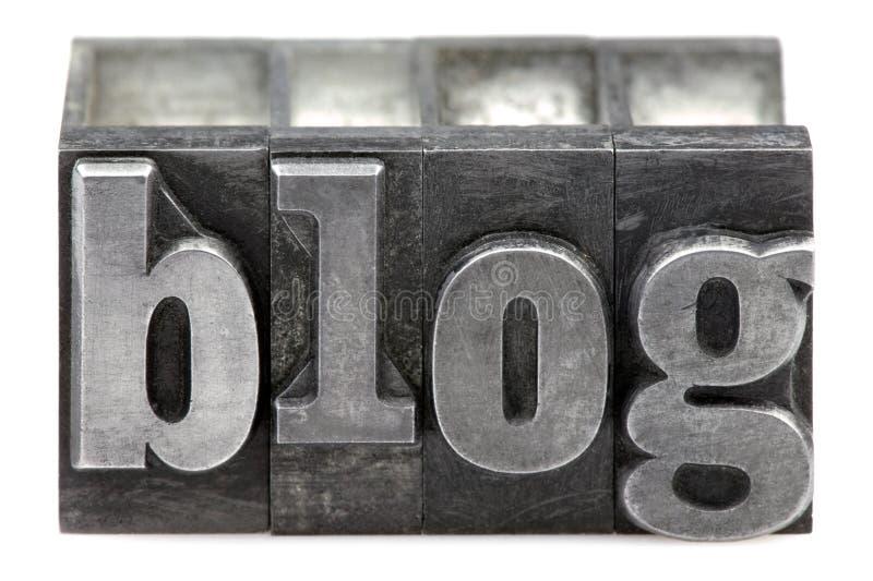 Blog de la prensa de copiar imagen de archivo