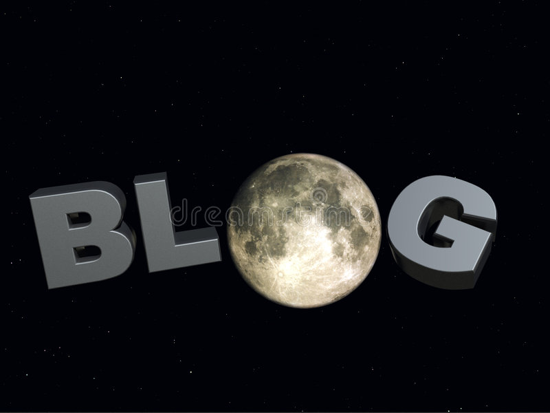 Blog de nuit illustration stock