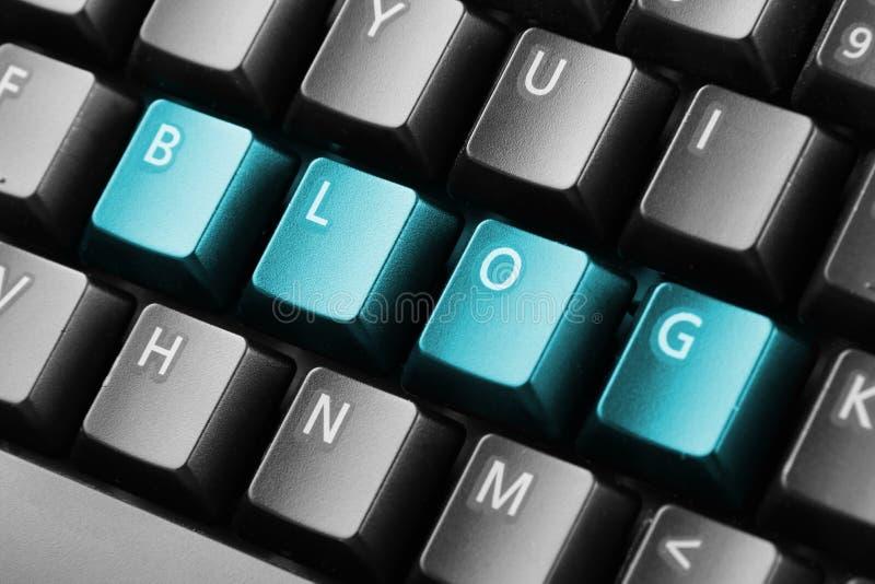 Blog de Word écrit avec des boutons de clavier photos stock