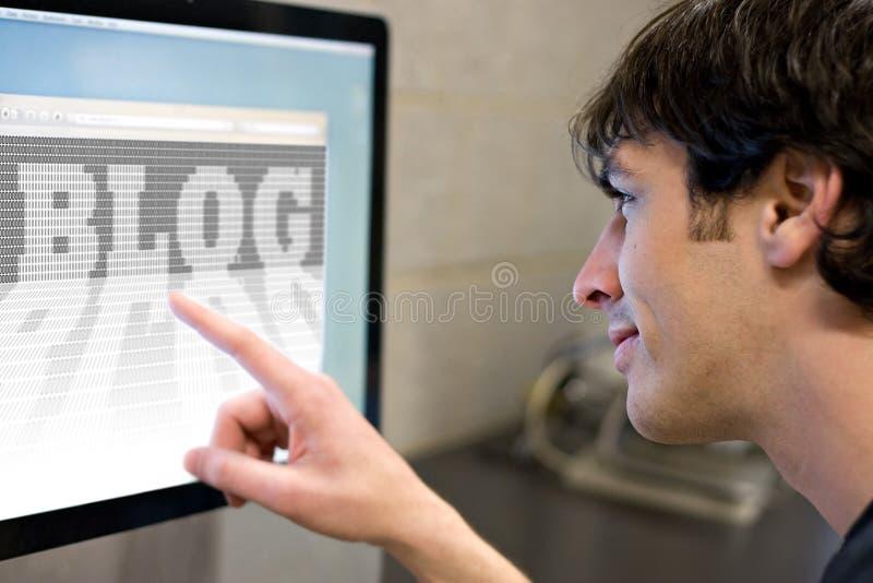 Blog del Internet fotografie stock