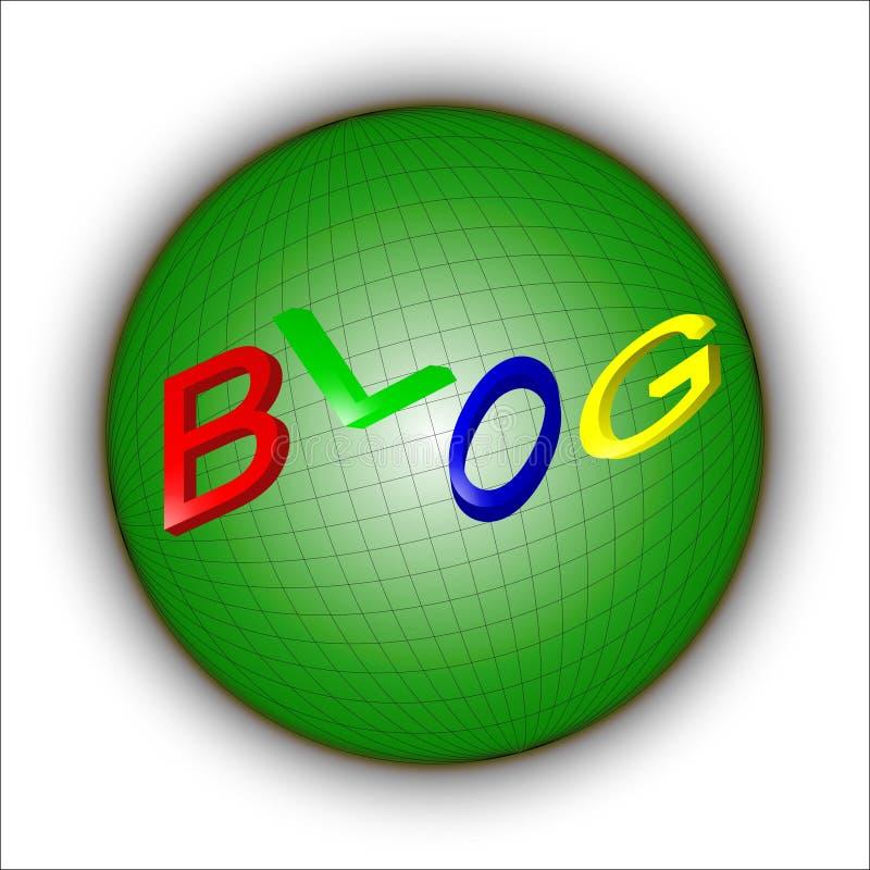 Blog in der Welt lizenzfreie abbildung
