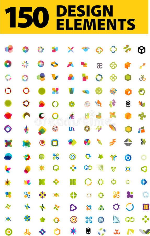 Blog design elements vector illustration