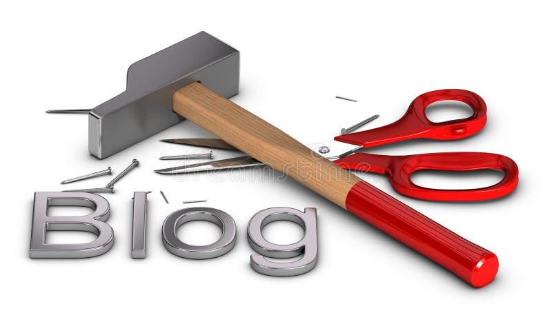 Blog DIY - doe het zelf vector illustratie
