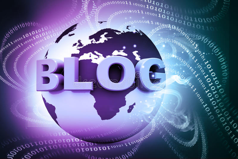 Blog e mondo immagini stock libere da diritti