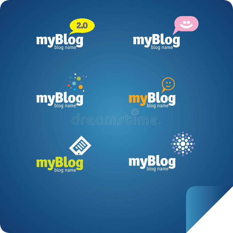 Blog elemnets. Set of vector blog and chat elements royalty free illustration