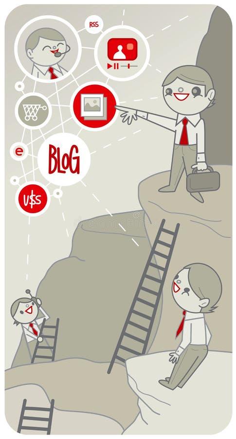 Download Blog Escalation stock vector. Image of shopping, monitor - 5821577