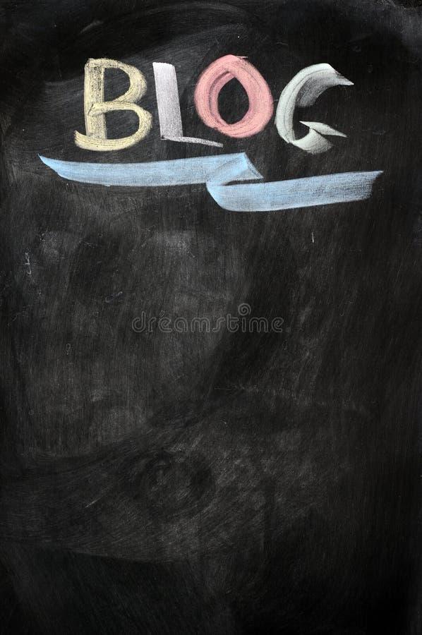 Blog escrito en una pizarra stock de ilustración