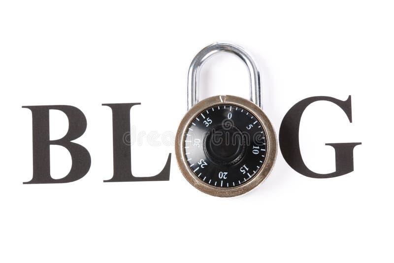 Blog et blocage image libre de droits