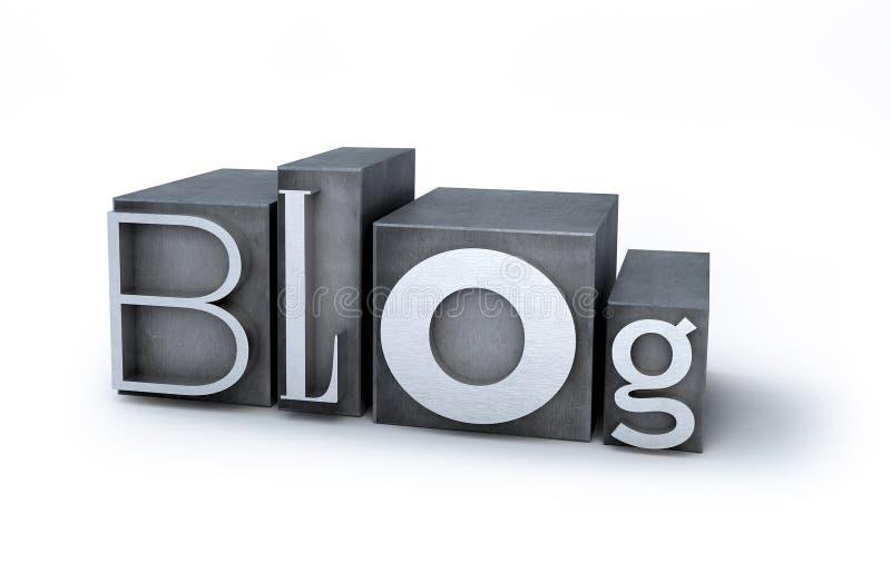 Blog fait d'impression typographique illustration libre de droits