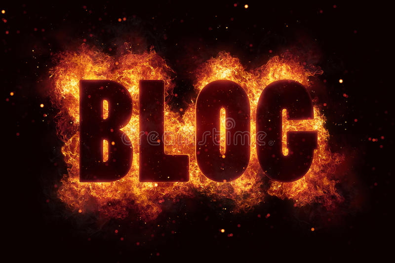 Download Blog In Fire Text Flames Bloggin Hot Stock Illustration - Image: 88706719