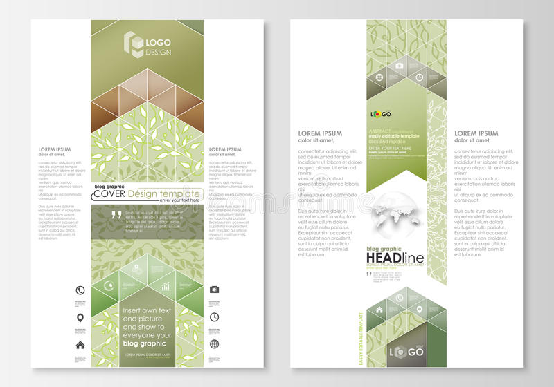 Blog graphic business templates. Page website design template, abstract flat layout. royalty free illustration